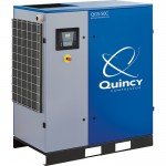 Quincy QGS Rotary Screw Air Compressor — 50 HP, 230/460 Volt, 3 Phase, 208 CFM, No Tank, Model# 4152017375