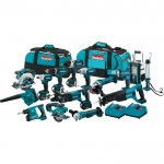 Makita 18V LXT Li-Ion Cordless Combo Kit — 15-Tool Set With 4 Batteries, Model# XT1500