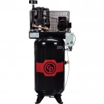 Chicago Pneumatic Reciprocating Air Compressor — 5 HP, 80 Gallon, 208-230 Volt, 1-Phase, Model# RCP581V