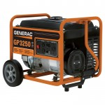 Generac GP3250 Portable Generator — 3750 Surge Watts, 3250 Rated Watts, Model# 5982
