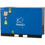 Quincy QGS Rotary Screw Air Compressor — 30 HP, 208/230-460 Volt, 3 Phase, 122 CFM, Base Mount, With Dryer, No Tank, Model# 4152016777