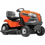 Husqvarna Riding Lawn Mower — 22V Briggs & Stratton Intek V-Twin Engine, 46in.Deck Model# TYA22V46