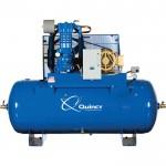 Quincy QP MAX Pressure-Lubricated Reciprocating Air Compressor — 10 HP, 460 Volt/3 Phase, 120 Gallon Horizontal, Model# 3103D12HCA46M