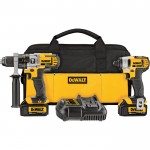 DEWALT 20 Volt Max Li-Ion Cordless 1/2in. Hammerdrill & 1/4in. Impact Driver Combo Kit — With 2 Batteries, Model# DCK290L2