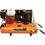 Industrial Air Gas-Powered Wheelbarrow Air Compressor — 5.5 HP Honda Engine, 8-Gallon, Model# CTA5590856