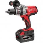 Milwaukee 28 Volt Cordless Hammer Drill Kit — 1/2in., Model# 0726-22