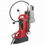 Milwaukee Electromagnetic Drill Press Base and 12.5 Amp Motor — Adjustable Position, Model# 4206-1