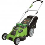 Greenworks G-MAX 40V Dual Blade Cordless Lawn Mower — 20in. Deck, Model# 25302