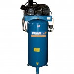 Puma Belt-Drive Stationary Vertical Air Compressor — 60-Gallon Vertical, 5 HP, 18.2 CFM, Model# PK7060VS