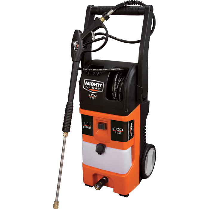 Mighty Clean Electric Cold Water Pressure Washer — 1800 PSI, 1 5 GPM