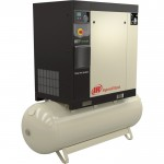 Ingersoll Rand Rotary Screw Compressor — 15 HP, 460 Volt/3-Phase, 53.9 CFM @ 115 PSI, 120-Gallon Tank, Model# 48670723