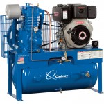 Quincy QP-10 Pressure Lubricated Reciprocating Air Compressor — 10 HP Yanmar Diesel Engine, 30 Gallon Horizontal, Model# D307Y30HCD