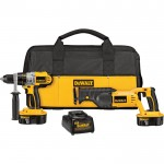 DEWALT 18V Cordless Hammerdrill/Driver & Reciprocating Saw Combo Kit — With 2 Batteries, Model# DCK251X