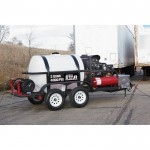 NorthStar Hot Water Pressure Washer Trailer with 2 Wands — 4,000 PSI, 7.0 GPM
