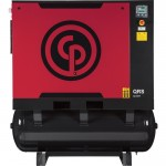 Chicago Pneumatic Quiet Rotary Screw Air Compressor with Dryer — 25 HP, 230 Volts, 3 Phase, Model# QRS25HPD