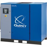 Quincy QGS Rotary Screw Air Compressor with Dryer — 50 HP, 230/460 Volt, 3 Phase, 208 CFM, No Tank, Model# 4152017371
