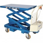 Bishamon Industries Battery-Operated Mobilift Scissor Lift Table — 1,100-Lb. Capacity, Model# BX50WB