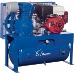 Quincy QT-7.5 Splash Lubricated Reciprocating Air Compressor — 13 HP, Honda Gas Engine, 30-Gallon Horizontal, Model# G213H30HCB