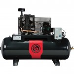 Chicago Pneumatic Reciprocating Air Compressor — 5 HP, 80 Gallon, 208/230 Volt, 1-Phase, Model# RCP381HS