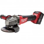 Milwaukee M18 FUEL 4 1/2in./5in. Grinder Kit — Two M18 RedLithium XC 5.0 Batteries, Slide Switch, Lock-On, Model# 2781-22