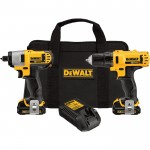 DEWALT 12V MAX Li-ion Cordless 3/8in. Drill/Driver & 1/4in. Impact Driver Combo Kit — With 2 Batteries, Model# DCK211S2