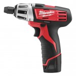 Milwaukee M12 Cordless Subcompact Driver — 12 Volt, 1/4in., Model# 2401-22