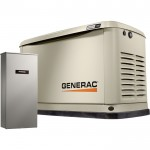 Generac Guardian Series Air-Cooled Home Standby Generator — 9 kW (LP)/8 kW (NG), 100 Amp Transfer Switch, Model# 7030