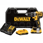 DEWALT MAX XR Compact Brushless Drill-Driver Kit — 20 Volt, 1/2in. Chuck, 2 Compact 2.0Ah Li-Ion Batteries, Model# DCD791D2