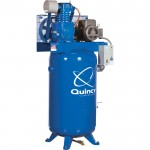 Quincy QT-5 Splash Lubricated Reciprocating Air Compressor — 5 HP, 230 Volt, 3 Phase, 80-Gallon Vertical, Model# 253DS80VCB23