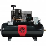 Chicago Pneumatic Reciprocating Air Compressor — 7.5 HP, 80 Gallon, 208/230 Volt, 1-Phase, Model# RCP-7581HS
