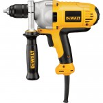 DEWALT VSR Mid-Handle Corded Electric Drill — 1/2in. Keyless Chuck, 10.0 Amp, 1,250 RPM, Model# DWD215G