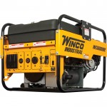 Winco Portable Industrial Generator, 6000 Surge Watts, 5500 Rated Watts, Honda GX340 Engine, Electric Start, EPA and CARB Compliant, Model# WC6000HE