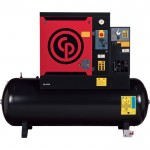 Chicago Pneumatic Quiet Rotary Screw Air Compressor with Dryer — 10 HP, 230 Volts, 3 Phase, Model# QRS10HPD-150