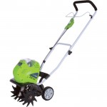 GreenWorks 40V Li-Ion Cordless Cultivator — 8 1/4in. to 10in. Working Width, Model# 27062