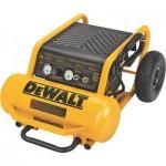 DEWALT Portable Electric Air Compressor — 1.6 HP, 4.5-Gallon Horizontal, 5.2 CFM, Model# D55146