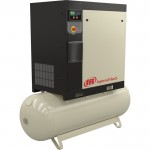 Ingersoll Rand Rotary Screw Compressor — 5 HP, 230 Volt/1-Phase, 16.93 CFM @ 115 PSI, 80-Gallon Tank, Model# 48670855