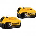 DEWALT 20 Volt Max XR 5.0Ah Battery — 2-Pack, Model# DCB205-2