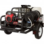 NorthStar Trailer-Mounted Hot Water Pressure Washer — 4,000 PSI, 4.0 GPM, Honda Engine
