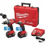 Milwaukee M18 FUEL Cordless Combo Kit with ONE-KEY — 1/2in. Drill/Driver and 1/4in. Hex Impact Driver Combo Kit, With 2 M18 5.0Ah XC Batteries, Model# 2795-22