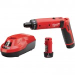 Milwaukee M4 1/4in. Hex Screwdriver Kit with 2 Batteries and Charger, Model# 2101-22
