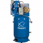Quincy QP-10 Pressure Lubricated Reciprocating Air Compressor — 10 HP, 230/460 Volt, 3 Phase, 120 Gallon Vertical, Model# 3103DS12HCA