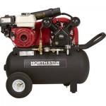 NorthStar Portable Gas-Powered Air Compressor — Honda 163cc OHV Engine, 20-Gallon Horizontal Tank, 13.7 CFM @ 90 PSI