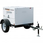 Generac Towable Mobile Diesel Generator — 20 kW/19 kW, Single Phase, Electric Start, Model# 6028