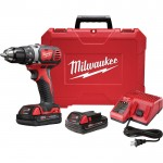 Milwaukee M18 Compact 1/2in. Drill Driver Kit — Two M18 Compact RedLithium 1.5Ah Batteries, Model# 2606-22CT