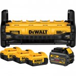 DEWALT 1800 Watt Portable Power Station and Parallel Battery Charger Kit — Includes 4 Batteries: (3) 20 Volt MAX, (1) 20/60 Volt FLEXVOLT, Model# DCB1800M3T1